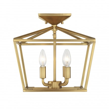 Savoy House Europe Townsend 4 Light Warm Brass Semi-Flush