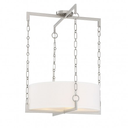 Savoy House Europe Abbott 4 Light Satin Nickel Pendant