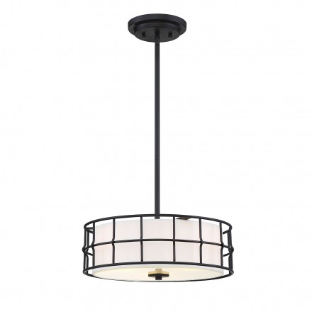 Savoy House Europe Hayden Black Convertible Semi-Flush