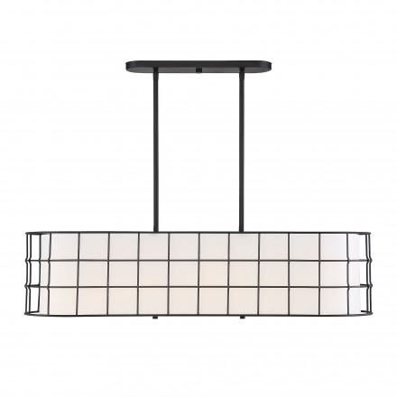 Savoy House Europe Hayden 5 Lights Black Linear Chandelier