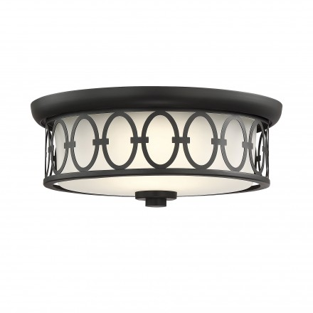 Savoy House Europe Sherrill Matte Black LED Flush Mount