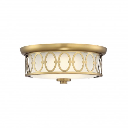 Savoy House Europe Sherrill Warm Brass LED Flush Mount