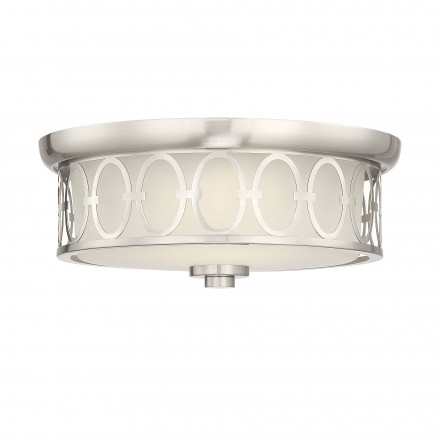 Savoy House Europe Sherrill Satin Nickel LED Flush Mount