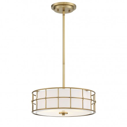 Savoy House Europe Hayden Warm Brass Convertible Semi-Flush