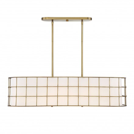 Savoy House Europe Hayden 5 Lights Warm Brass Linear Chandelier