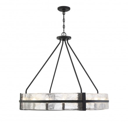 Savoy House Europe Hudson 12 Light Matte Black Pendant