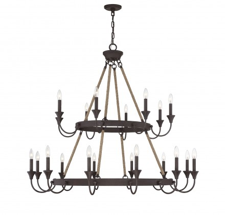 Savoy House Europe Sienna 20 Light Artisan Rust Chandelier