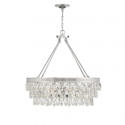 Savoy House Europe Windham 6 Light Polished Nickel Pendant