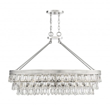 Savoy House Europe Windham 8 Light Polished Nickel Linear Chandelier
