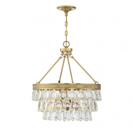 Savoy House Europe Windham 4 Light Warm Brass Pendant