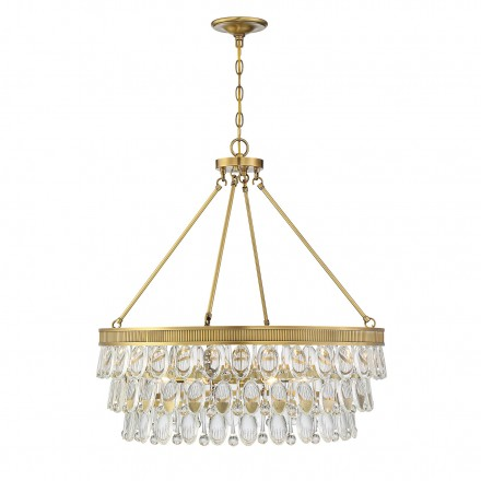 Savoy House Europe Windham 6 Light Warm Brass Pendant
