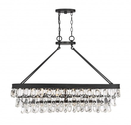 Savoy House Europe Windham 8 Light English Bronze Linear Chandelier