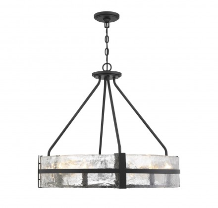 Savoy House Europe Hudson 8 Light Matte Black Pendant