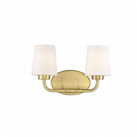 Savoy House Europe Capra Warm Brass 2 Light Bath