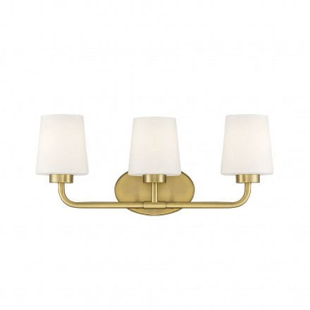 Savoy House Europe Capra Warm Brass 3 Light Bath