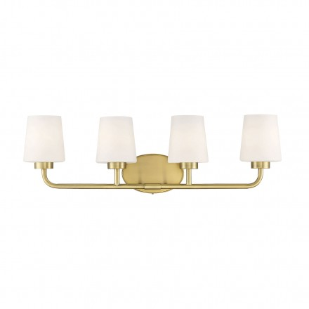Savoy House Europe Capra Warm Brass 4 Light Bath