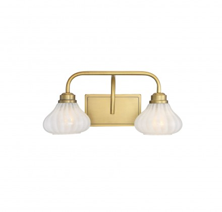 Savoy House Europe Darlington Warm Brass 2 Light Bath