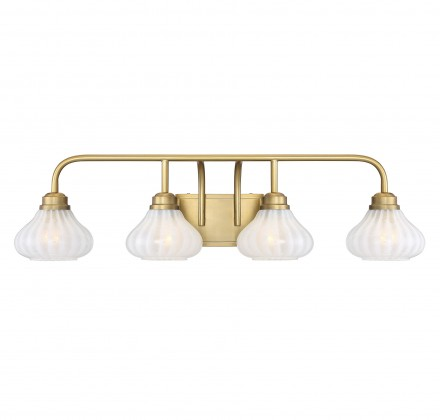 Savoy House Europe Darlington Warm Brass 4 Light Bath