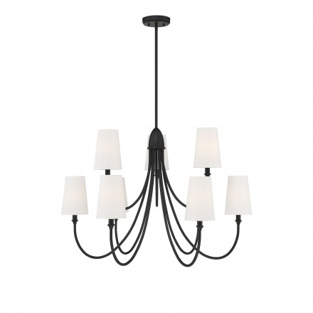 Savoy House Europe Cameron Matte Black 9 Light Chandelier