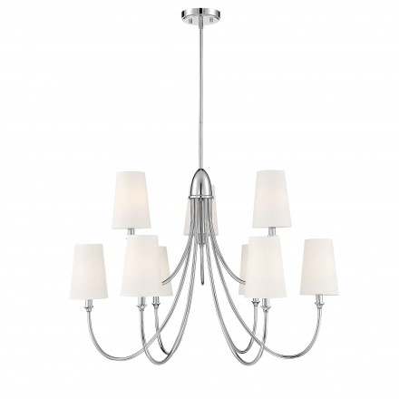 Savoy House Europe Cameron  Polished Nickel 9 Light Chandelier