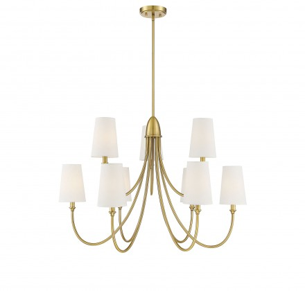 Savoy House Europe Cameron Warm Brass 9 Light Chandelier