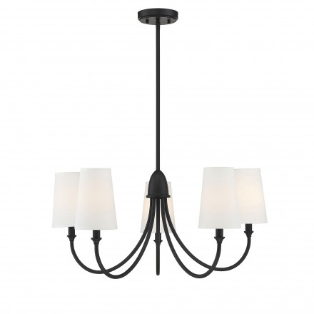 Savoy House Europe Cameron  Matte Black 5 Light Chandelier