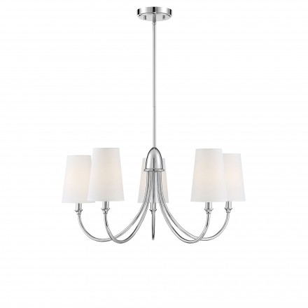 Savoy House Europe Cameron  Polished Nickel 5 Light Chandelier