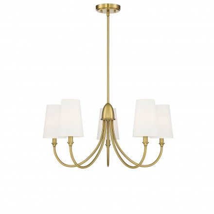 Savoy House Europe Cameron Warm Brass 5 Light Chandelier