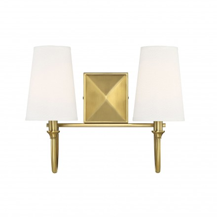 Savoy House Europe Cameron Warm Brass 2 Light Bath