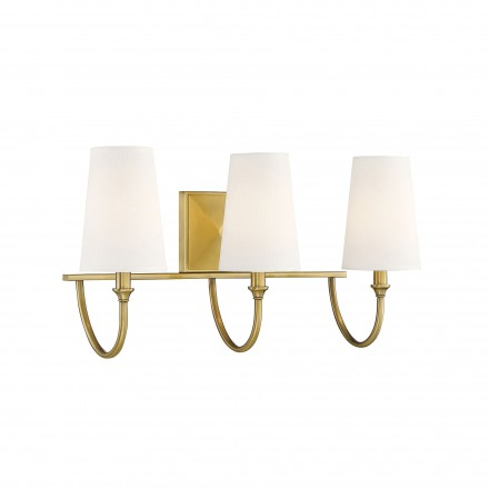 Savoy House Europe Cameron Warm Brass 3 Light Bath