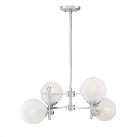 Savoy House Europe Medina Satin Nickel 4 Light Chandelier