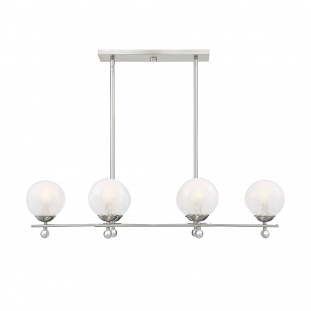 Savoy House Europe Medina Satin Nickel 6 Light Linear Chandelier