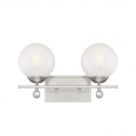 Savoy House Europe Medina Satin Nickel 2 Light Bath