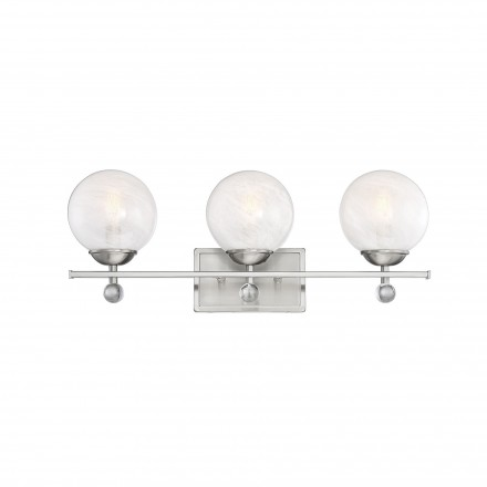 Savoy House Europe Medina Satin Nickel 3 Light Bath