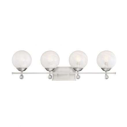 Savoy House Europe Medina Satin Nickel 4 Light Bath