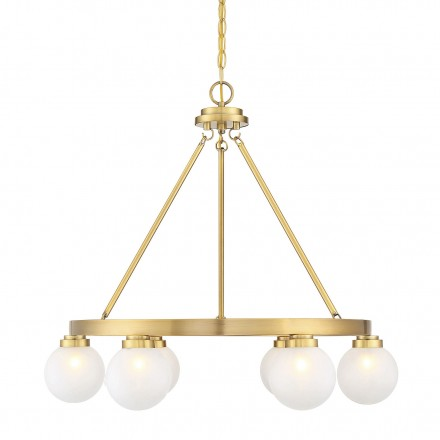 Savoy House Europe Avery Warm Brass 6 Light Chandelier
