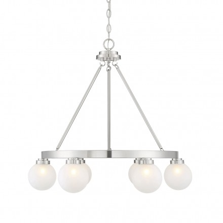 Savoy House Europe Avery Satin Nickel 6 Light Chandelier