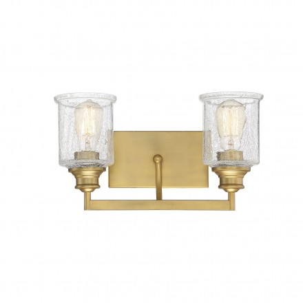 Savoy House Europe Hampton Warm Brass 2 Light Bath