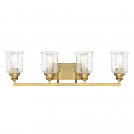 Savoy House Europe Hampton Warm Brass 4 Light Bath