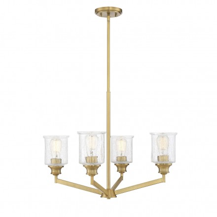 Savoy House Europe Hampton Warm Brass 4 Light Chandelier