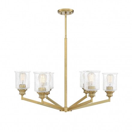 Savoy House Europe Hampton Warm Brass 6 Light Chandelier