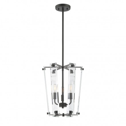 Savoy House Europe Everett Matte Black 3 Light Foyer