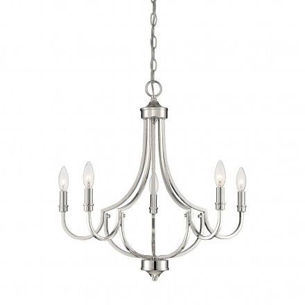 Savoy House Europe Auburn Polished Nickel 5 Light Chandelier