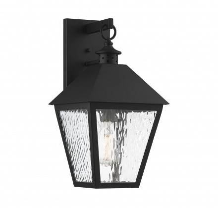 Savoy House Europe Harrison Matte Black 1 Light Outdoor Sconce