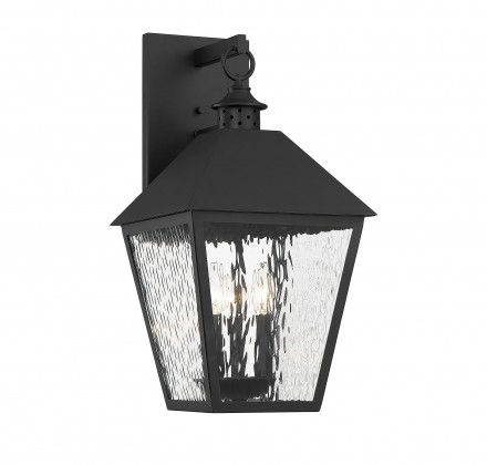 Savoy House Europe Harrison Matte Black 3 Light Outdoor Sconce