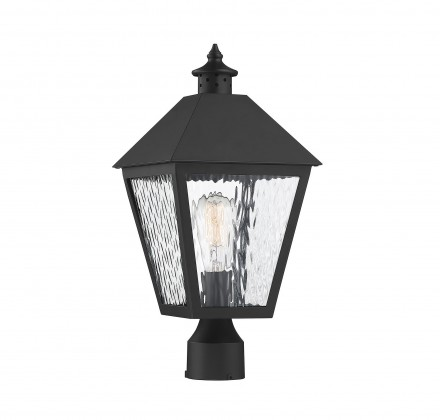 Savoy House Europe Harrison Matte Black 1 Light Outdoor Post Lantern