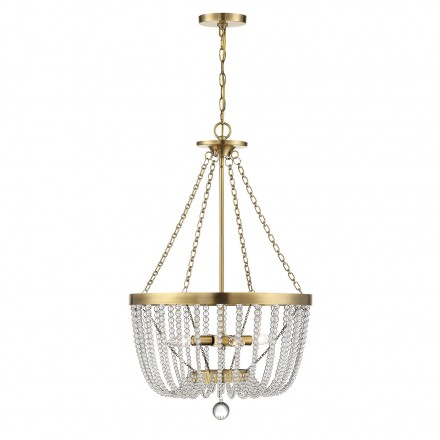 Savoy House Europe Bergamo Warm Brass 4 Light Pendant
