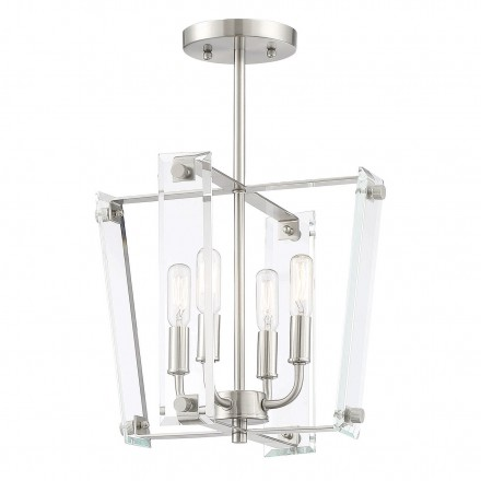 Savoy House Europe Everett Satin Nickel 4 Light Semi-Flush