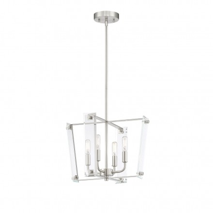 Savoy House Europe Everett Satin Nickel 4 Light Pendant