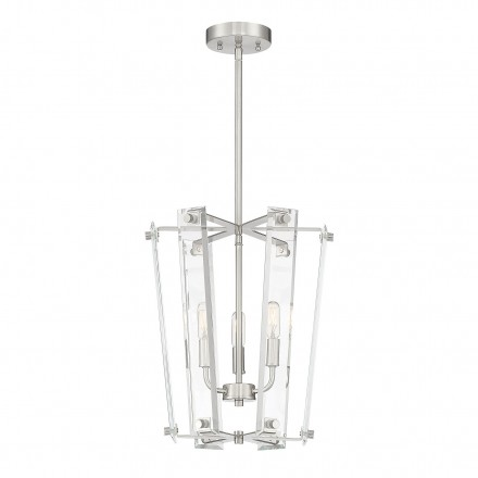 Savoy House Europe Everett Satin Nickel 3 Light Foyer